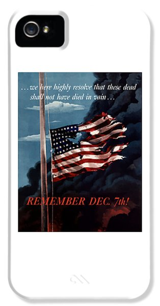 Gettysburg iPhone 5 Case - Remember December Seventh by War Is Hell Store