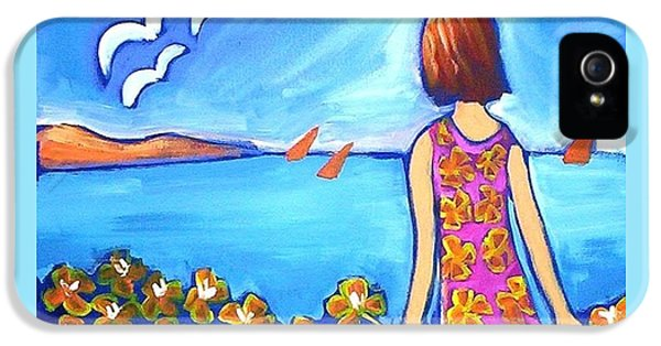 IPhone 5 Case featuring the painting Remembering Joy by Winsome Gunning