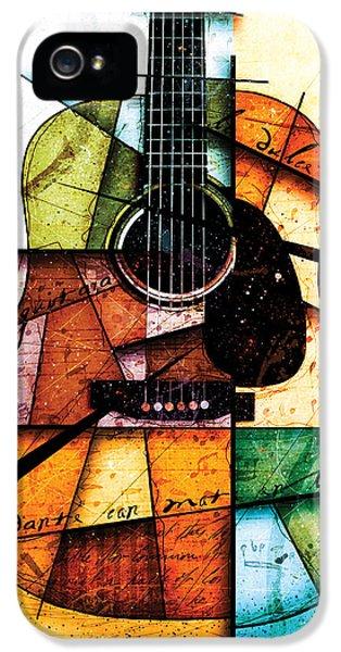 Guitar iPhone 5 Case - Resonancia En Colores by Gary Bodnar