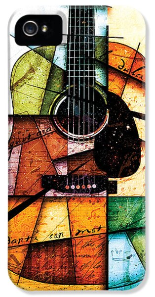 Guitar iPhone 5 Case - Resonancia En Colores by Gary Bodnar