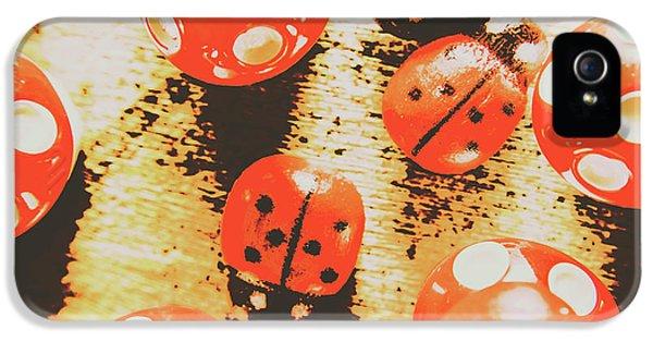 Ladybug iPhone 5 Case - Retro Art Bug by Jorgo Photography - Wall Art Gallery