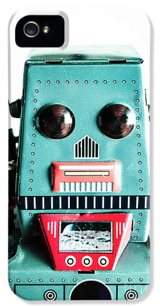 Retro Eighties Blue Robot IPhone 5 Case by Jorgo Photography - Wall Art Gallery