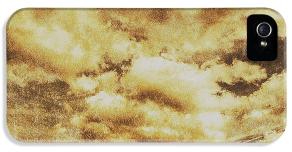 Retro Grunge Cloudy Sky Background IPhone 5 Case by Jorgo Photography - Wall Art Gallery