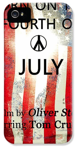 Retro Movie Poster 4th Of July IPhone 5 / 5s Case by David Lee Thompson