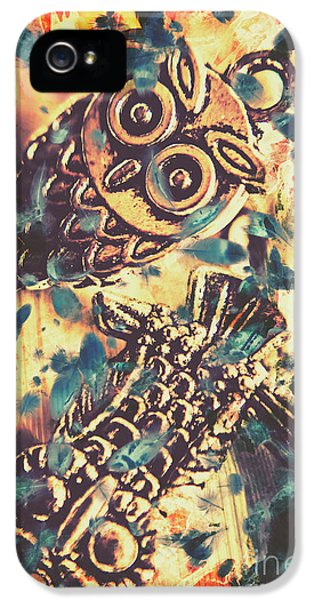 Retro Pop Art Owls Under Floating Feathers IPhone 5 Case by Jorgo Photography - Wall Art Gallery
