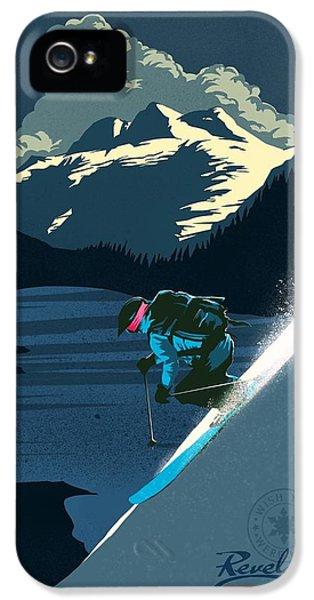 Mount Rushmore iPhone 5 Case - Retro Revelstoke Ski Poster by Sassan Filsoof