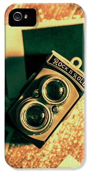 Retro Toy Camera On Photo Background IPhone 5 Case by Jorgo Photography - Wall Art Gallery