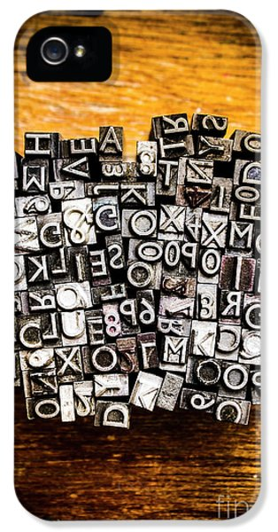 Retro Typesetting In Print IPhone 5 Case by Jorgo Photography - Wall Art Gallery