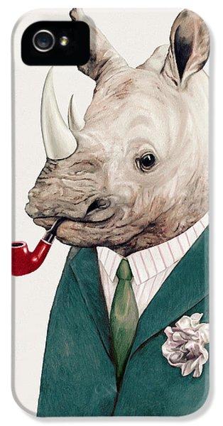 Rhino In Teal IPhone 5 Case