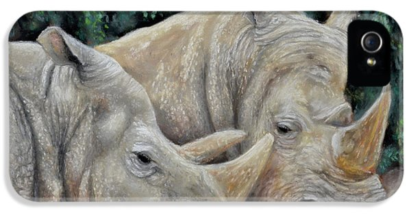 Rhinos IPhone 5 Case by Sam Davis Johnson