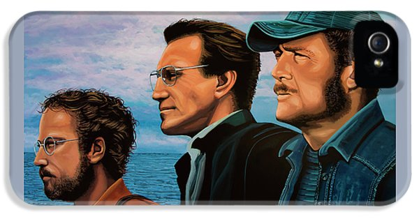 Jaws With Richard Dreyfuss, Roy Scheider And Robert Shaw IPhone 5 Case by Paul Meijering