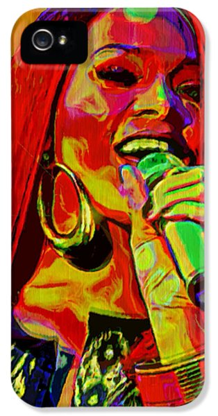 Rihanna 2 IPhone 5 Case by  Fli Art