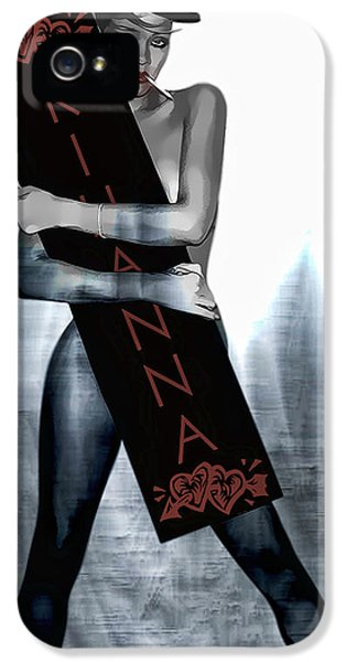 Rihanna Love Card By Gbs IPhone 5 Case by Anibal Diaz