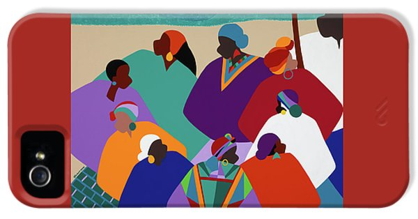 iPhone 5 Case - Ring Shout Gullah Islands by Synthia SAINT JAMES