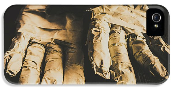 Rising Mummy Hands In Bandage IPhone 5 / 5s Case by Jorgo Photography - Wall Art Gallery
