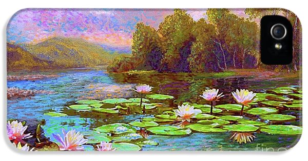 Lily iPhone 5 Case - The Wonder Of Water Lilies by Jane Small
