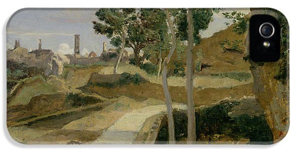 Road iPhone 5 Cases - Road from Volterra iPhone 5 Case by Jean Baptiste Camille Corot