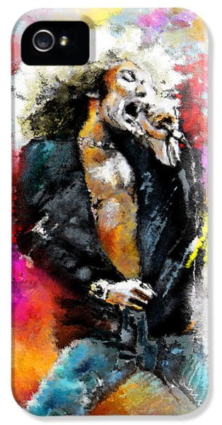 Robert Plant 03 IPhone 5 Case by Miki De Goodaboom