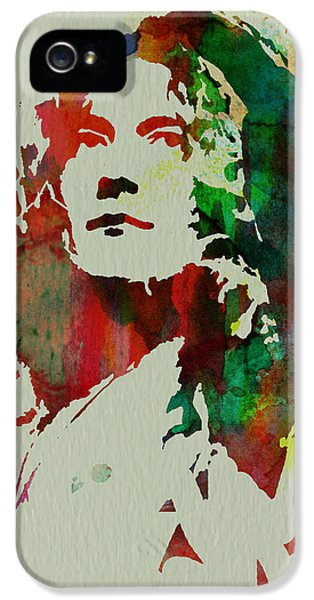 Robert Plant IPhone 5 Case by Naxart Studio