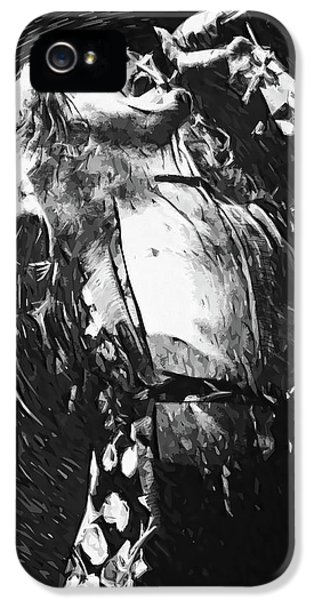 Robert Plant IPhone 5 Case by Taylan Apukovska