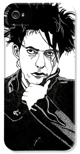 Robert Smith Music iPhone 5 Case - Robert Smith 1 by Christine Perry