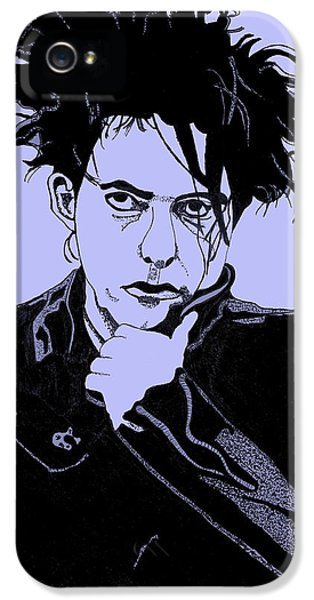 Robert Smith Music iPhone 5 Case - Robert Smith 2 by Christine Perry