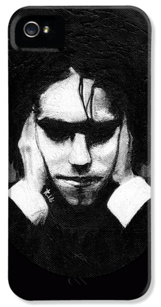 Robert Smith Music iPhone 5 Case - Robert Smith by Rouble Rust