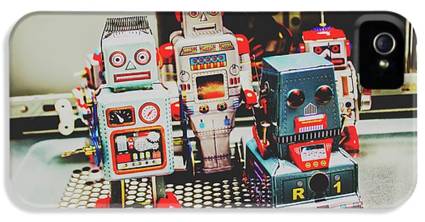 Robots Of Retro Cool IPhone 5 Case by Jorgo Photography - Wall Art Gallery