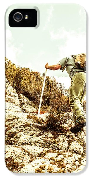 Rock Climbing Mountaineer IPhone 5 Case by Jorgo Photography - Wall Art Gallery