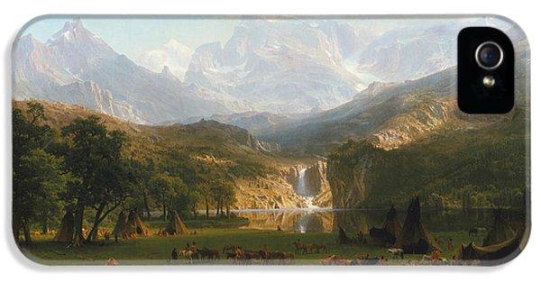 Rocky Mountains IPhone 5 Case by Albert Bierstadt
