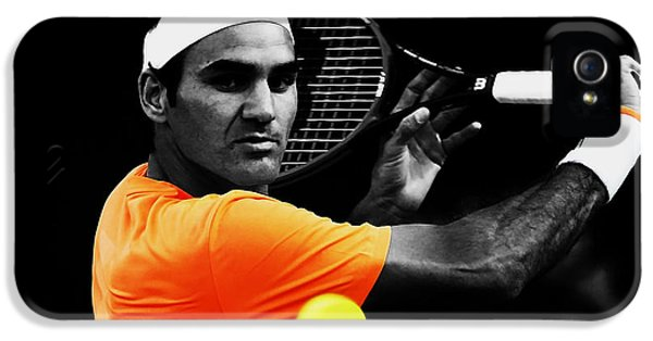 Serena Williams iPhone 5 Case - Roger Federer 4c by Brian Reaves
