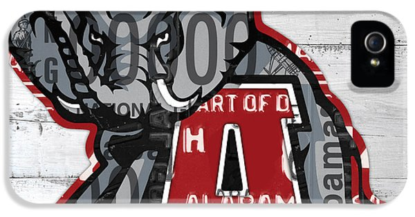 Roll Tide Alabama Crimson Tide Recycled State License Plate Art IPhone 5 Case