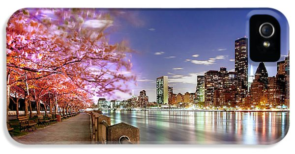 Empire State Building iPhone 5 Case - Romantic Blooms by Az Jackson