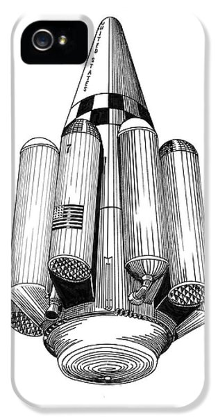 Rombus Heavey Lift Reusable Rocket IPhone 5 / 5s Case by Jack Pumphrey