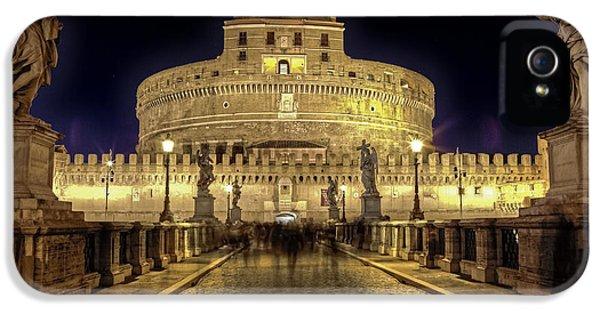 Rome Castel Sant Angelo IPhone 5 Case by Joana Kruse