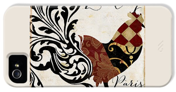 Roosters Of Paris II IPhone 5 Case by Mindy Sommers