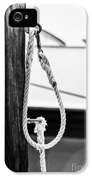 Rope Fence Fragment In Harbour IPhone 5 Case by Elena Elisseeva