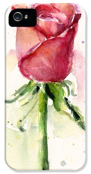 Rose Watercolor IPhone 5 / 5s Case by Olga Shvartsur