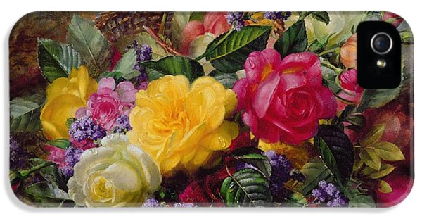 Roses By A Pond On A Grassy Bank  IPhone 5 / 5s Case by Albert Williams