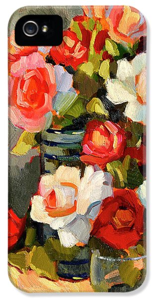 Roses From My Garden IPhone 5 Case by Diane McClary