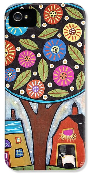 Round iPhone 5 Cases - Round Tree iPhone 5 Case by Karla Gerard