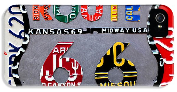 Route 66 Highway Road Sign License Plate Art IPhone 5 / 5s Case by Design Turnpike