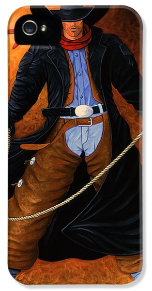American Western iPhone 5 Cases - Rowdy iPhone 5 Case by Lance Headlee