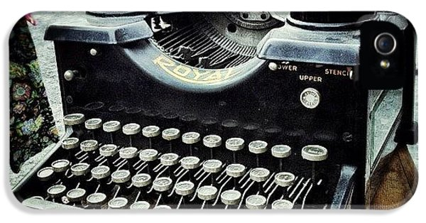 Royal Typewriter IPhone 5 Case by Natasha Marco