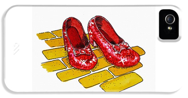 Ruby Slippers The Wizard Of Oz  IPhone 5 Case by Irina Sztukowski