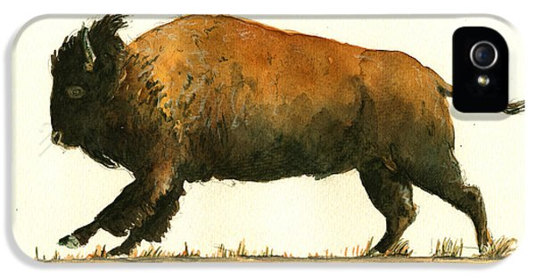 Running American Buffalo IPhone 5 Case by Juan  Bosco