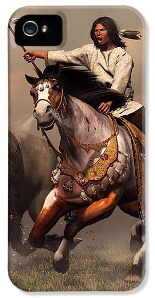Bull iPhone 5 Case - Running With Buffalo by Daniel Eskridge
