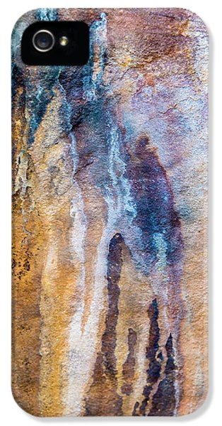 IPhone 5 Case featuring the photograph Runoff Abstract, Bhimbetka, 2016 by Hitendra SINKAR