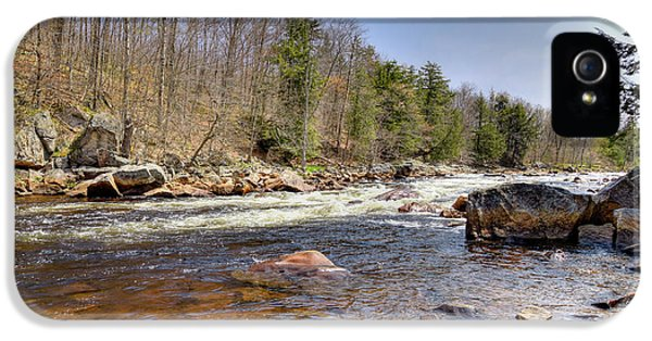 IPhone 5 Case featuring the photograph Rushing Waters Of The Moose River by David Patterson