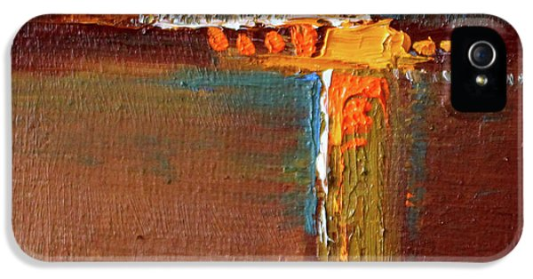 Rust Abstract Painting IPhone 5 Case by Nancy Merkle